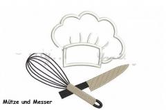 Mütze und Messer